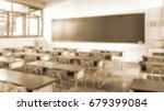 school classroom in blur...   Shutterstock . vector #679399084