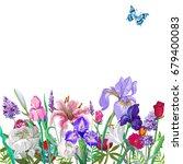tender floral empty template...   Shutterstock .eps vector #679400083