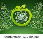back to school horizontal... | Shutterstock .eps vector #679405600