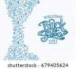 vector sketch back to school... | Shutterstock .eps vector #679405624