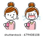 women who gargle  | Shutterstock .eps vector #679408108