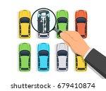 car diagnostics vector... | Shutterstock .eps vector #679410874