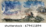 watercolor painting of stunning ... | Shutterstock . vector #679411894