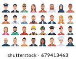 set of people avatar icons.... | Shutterstock .eps vector #679413463