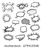 collection of comic bubbles  | Shutterstock .eps vector #679415548