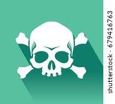 skull and crossbones vector...   Shutterstock .eps vector #679416763