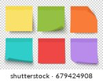 multicolor notes isolated on... | Shutterstock .eps vector #679424908
