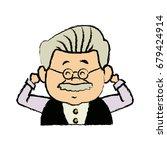 portrait  grandfather man...   Shutterstock .eps vector #679424914