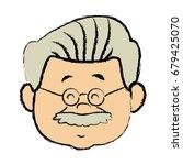 portrait  grandfather man...   Shutterstock .eps vector #679425070