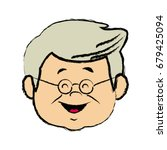 portrait  grandfather man...   Shutterstock .eps vector #679425094