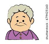portrait  grandfather man...   Shutterstock .eps vector #679425160