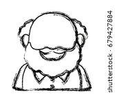 portrait  grandfather man...   Shutterstock .eps vector #679427884