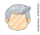 portrait of happy grandfather...   Shutterstock .eps vector #679429144