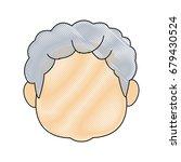 portrait of happy grandfather...   Shutterstock .eps vector #679430524