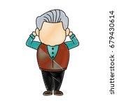 portrait happy grandfather man...   Shutterstock .eps vector #679430614