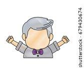 portrait of happy grandfather...   Shutterstock .eps vector #679430674