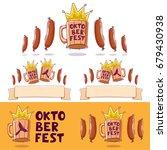 oktoberfest  beer festival logo ... | Shutterstock .eps vector #679430938