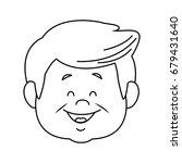 portrait of happy grandfather...   Shutterstock .eps vector #679431640