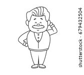 portrait happy grandfather man...   Shutterstock .eps vector #679432504