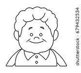 portrait happy grandfather man...   Shutterstock .eps vector #679432534