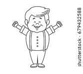 portrait happy grandfather man...   Shutterstock .eps vector #679432588