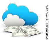 3d cloud computing in finance... | Shutterstock . vector #679432843