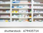pharmacy store background with... | Shutterstock . vector #679435714