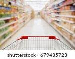 shopping cart view in... | Shutterstock . vector #679435723