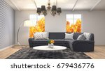 interior living room. 3d... | Shutterstock . vector #679436776
