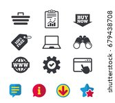 online shopping icons. notebook ...
