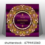 luxury wedding invitation card... | Shutterstock .eps vector #679441060