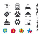 hotel services icons. with pets ...