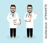 hipster doctor character design ... | Shutterstock .eps vector #679443970