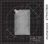 vector blueprint mayonnaise... | Shutterstock .eps vector #679447804