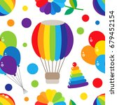 colorful and bright seamless... | Shutterstock .eps vector #679452154