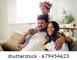 picture of happy family... | Shutterstock . vector #679454623