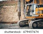 construction site  highway... | Shutterstock . vector #679457674