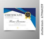 certificate premium template... | Shutterstock .eps vector #679464259