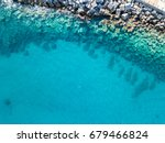 aerial view of rocks on the sea.... | Shutterstock . vector #679466824
