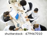 businesspeople working in office | Shutterstock . vector #679467010