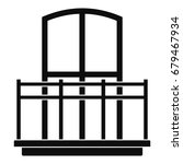wide balcony icon. simple... | Shutterstock .eps vector #679467934