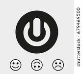 share black solid social symbol | Shutterstock .eps vector #679469500