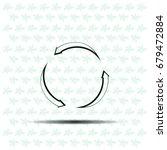 circular arrows vector icon | Shutterstock .eps vector #679472884