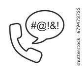 offensive phone talk linear... | Shutterstock .eps vector #679473733
