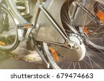 closeup view of bicycle wheel... | Shutterstock . vector #679474663