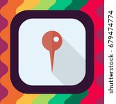 location pin flat icon with... | Shutterstock .eps vector #679474774
