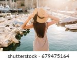 elegant slim girl with trendy... | Shutterstock . vector #679475164