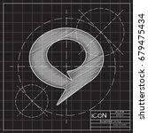 vector blueprint speech bubbles ...   Shutterstock .eps vector #679475434