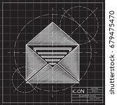 vector blueprint mail icon on... | Shutterstock .eps vector #679475470