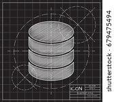 vector blueprint database icon... | Shutterstock .eps vector #679475494